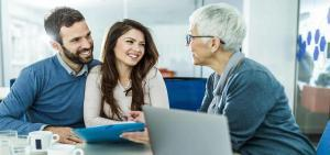 home improvement financial counselor with couple